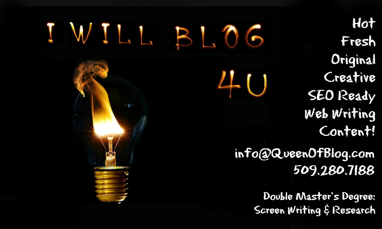 I WIll Blog For You